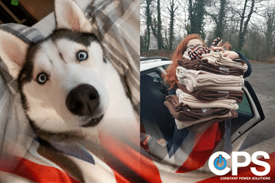 Special Delivery to 8 Below Husky Rescue