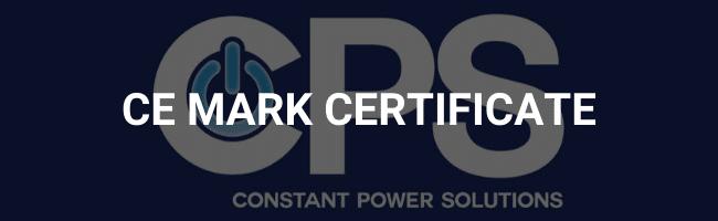 CE mark certificate
