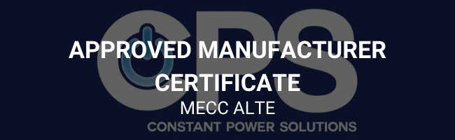 Approved manufacturer certificate - Mecc Alte