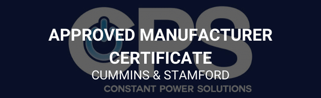 Approved manufacturer certificate - Cummins and Stamford