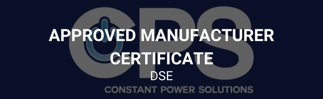 Approved manufacturer certificate - DSE