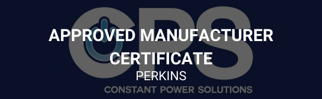 Approved manufacturer certificate - Perkins