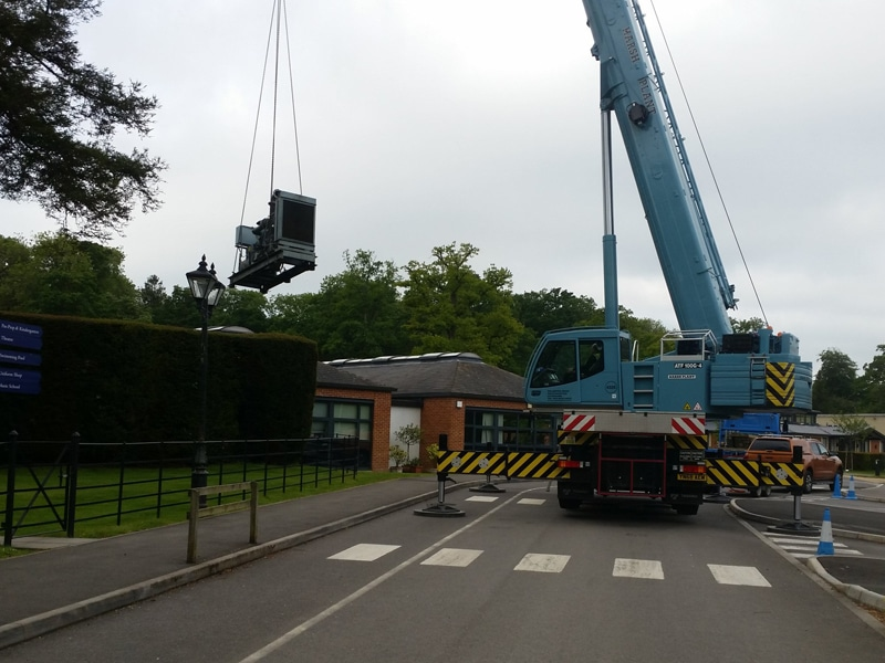 Hampshire CPS Generator Lifting Crane  Constant Power Solutions