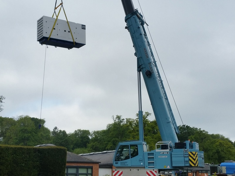 Hampshire CPS Generator Lifting  Constant Power Solutions
