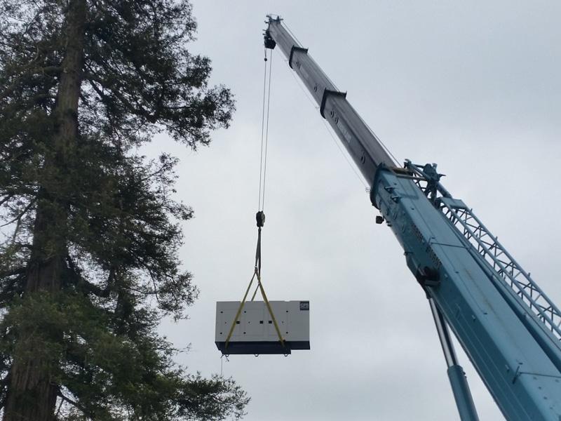 Hampshire CPS Generator Transport Crane  Constant Power Solutions