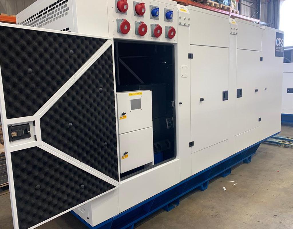 UK Factory Generator Open Door  Constant Power Solutions